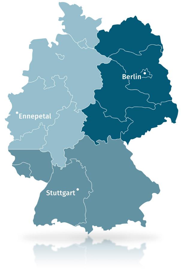 Standorte Deutschland Karte