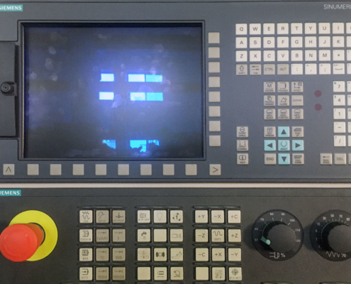Drehmaschine Display