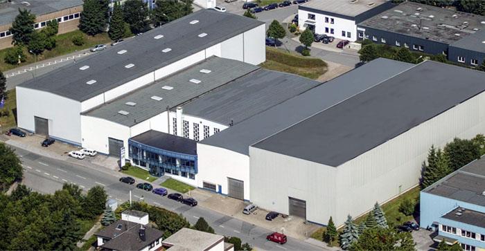 Luftaufnahme GMW Unternehmensgebäude